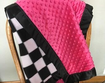 Double sided fleece baby blanket