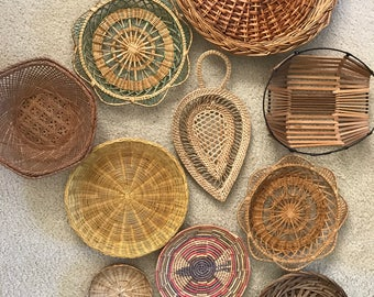 Wall basket collection set of 11