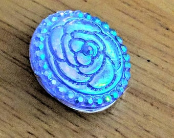 Blue Rose snap charm