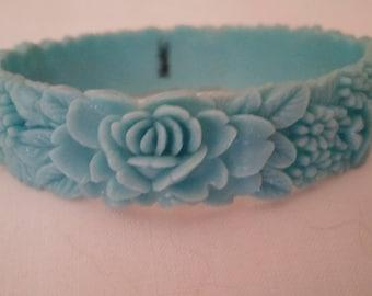 Vintage Carved Celluloid Bracelet