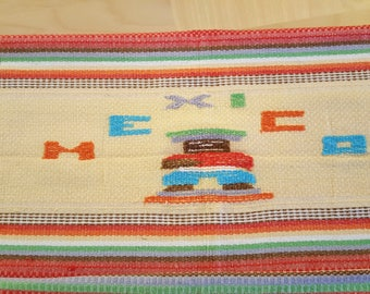 Vintage Mexican Tablecloth-Very Colorful
