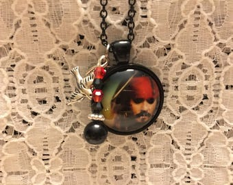 Pirates of the Caribbean Charm Necklace/Jack Sparrow Charm Necklace/Pirates of the Caribbean Jewelry/Johnny Depp Jewelry/Johnny Depp Fan
