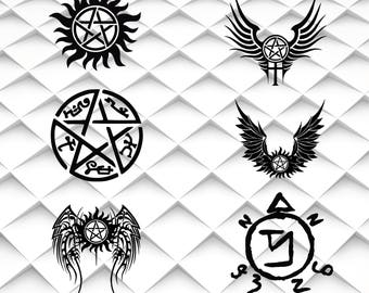 Supernatural SVG,png,jpg,eps Supernatural clipart for Print/Silhouette Cameo/Cricut and Many More