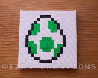 Pixel art Yoshi egg painting