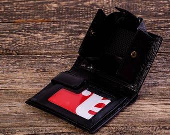 Wallet Leather wallet  Men leather wallet Black leather wallet Handmade wallet Leather coin wallet Leather wallet for men Wallets