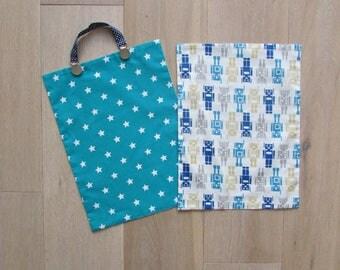 set of 2 reversible napkins