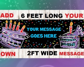 Happy Birthday Grandma Banner, Birthday Banner, Birthday Signs, Grandma Birthday Banner, Happy Birthday Grandma, Party