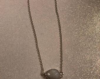 Rainbow Moonstone Minimalist Necklace *   Fine Jewelry * Layering Necklace * Moonstone Jewelry * Silver Necklace