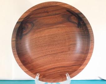 Hand Turned Walnut Wood Bowl
