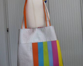 All silver Tote all multicolor tote bag Tote all light-filled all green Tote all blue-cored all pink-purse Tote
