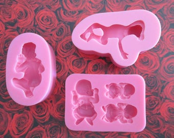 set of 3 molds baby: 3 different designs
