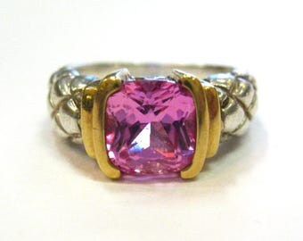Lorenzo Sterling & 18K Pink Sapphire Ring - X2930