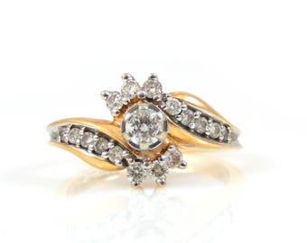 14K Diamond Ring - X206