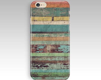 Vintage Colorful Wood Art iPhone 8 Case iPhone 8 Plus case iPhone X Case iPhone 7 Case iPhone 7 plus Case For Samsung Galaxy S8 S8 Plus Case