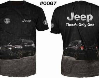 New ultramodern 3D  High Quality Jeep 4x4   Men's T-shirt