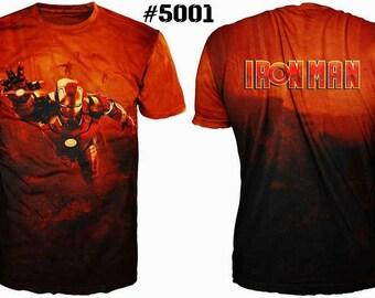 Unique 3D High Quality Mens  T-shirt Ironman