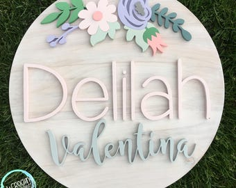 "24"" Diameter Floral Sign 