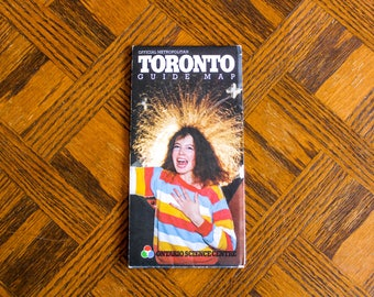 Vintage Map of Toronto Canada, 1981