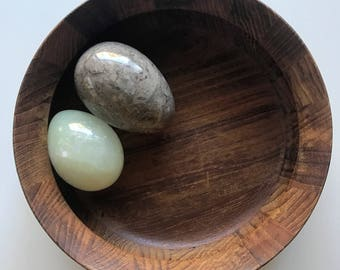 Vintage Gray & Pale Blue Marble Eggs - Set of 2