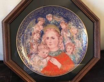 EDNA HIBEL Framed collectors plate