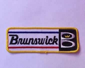 BRUNSWICK B BOWLING Logo Patch L@@K Bowling Teams Sports CROWN