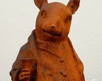 Rustic Garden Ornament in the form of Mr Ratty