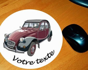 Mouse pad 2 cv charleston personalized text of your choice
