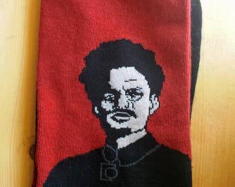 Art Socks : Diego Rivera, Leon Trotsky, and Avocado socks
