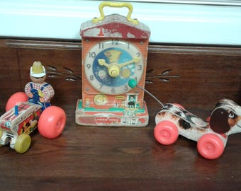 Lot of 3 Vintage Fisher Price Toys