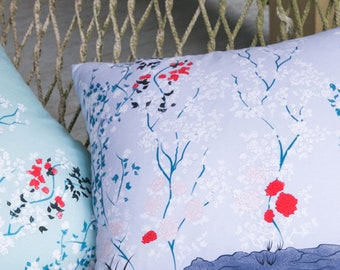 Lavender Chinoiserie Throw Pillow
