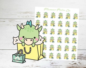 Dragon Planner Stickers // Shopping Spree // Me Time