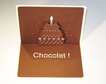 "Card Kirigami ""Chocolate"""
