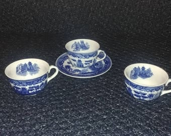 Japanese cups and saucer