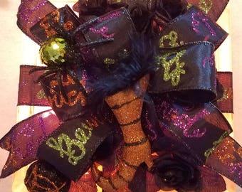 Halloween Lighted Block/Decorative