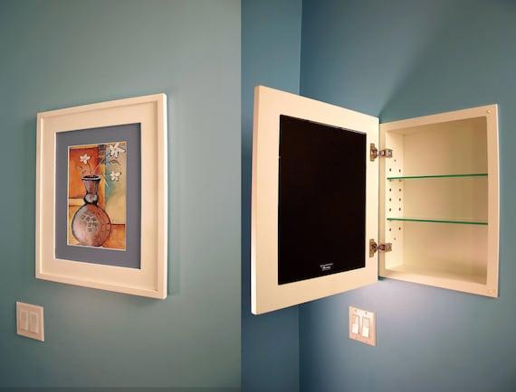 14x18 Large Concealed Medicine Cabinet Recessed Mirrorless