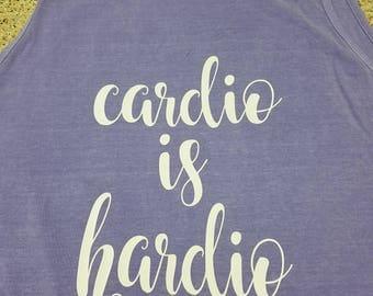Cardio workout/tank workout shirt/fun workout shirt