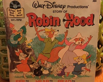 Walt Disney Robin Hood See The Pictures Hear The Record Read The Words