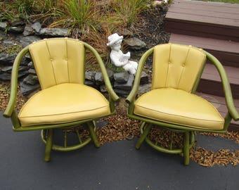 Rattan Swivel Chair Etsy