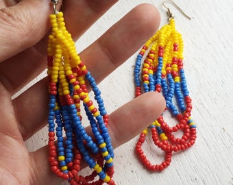 Sol Earrings - Seed Bead and Sterling Silver
