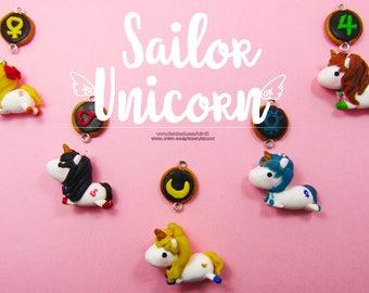 Sailor Unicorns Charms||Neckace||Kawaii||Sailor Moon||Unicorn