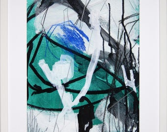 Original abstract illustration, no. 0642, mixed media on paper, 35x50cm. 2017