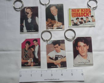 New Kids on the Block Original Set of 6 Photo  Key Chains