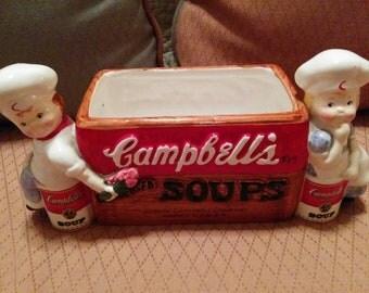 Campbell's Soup Planter  or Napkin Holder by Westworld International