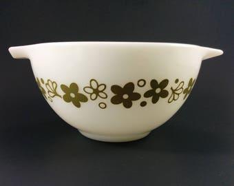 Vintage Pyrex Spring Blossom 441 Cinderella Mixing Bowl Crazy Daisy Nesting Mixing Bowl  1 1/2 Quart