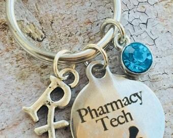 Pharm tech keychain
