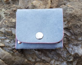 Sky Blue Suede leather wallet