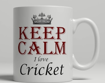 Cricket coffee mug, KEEP CALM, cricket gift idea, cricket mug, cricket fan mug, coffee mug cricket, cricketer mug, mug cricket Keep cricket