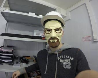 Gordon Freeman Half-Life / Heisenberg mask ( Walter White , Breaking Bad ) / PDF File TEMPLATE / Mask