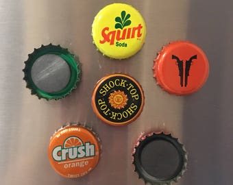 Bottle Cap Magnets (Set of 6)
