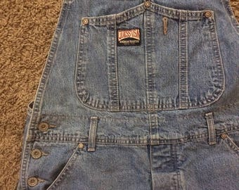 Vintage Guess Overall shorts, made in america